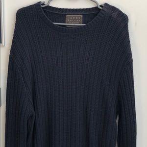 Jach's New York - Men's Large Navy Knit Sweater